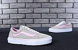 Жіночі кеди Vans Old Skool Grey Pink, фото 2