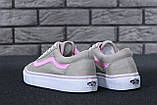 Жіночі кеди Vans Old Skool Grey Pink, фото 7