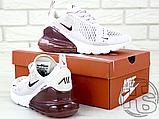 Жіночі кросівки Nike Air Max 270 Pink/Vintage Wine-White AH6789-601, фото 5