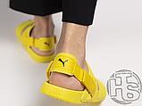 Женские шлепанцы Hyuna x Puma Leadcat YLM Lite Sandal Yellow 37073304, фото 3
