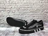 Жіночі кеди Vans Old Skool x Off White Black White, фото 6