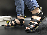 Женские сандалии Dr. Martens Blaire Hydro Leather Gladiator Sandals Black 24235001, фото 2