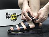 Женские сандалии Dr. Martens Blaire Hydro Leather Gladiator Sandals Black 24235001, фото 3