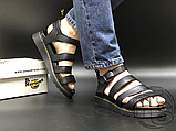Женские сандалии Dr. Martens Blaire Hydro Leather Gladiator Sandals Black 24235001, фото 4
