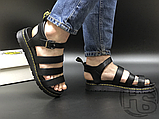 Женские сандалии Dr. Martens Blaire Hydro Leather Gladiator Sandals Black 24235001, фото 5
