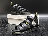 Женские сандалии Dr. Martens Blaire Hydro Leather Gladiator Sandals Black 24235001, фото 6