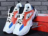 Женские кроссовки Nike M2K Tekno Summit White/Black/Team Orange AO3108-101, фото 3