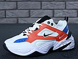 Женские кроссовки Nike M2K Tekno Summit White/Black/Team Orange AO3108-101, фото 7