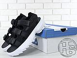 Жіночі сандалі Fila Disruptor 2 Sandal Black White FS1HTZ3082X, фото 3