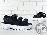 Жіночі сандалі Fila Disruptor 2 Sandal Black White FS1HTZ3082X, фото 6