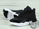Мужские кроссовки Air Jordan 12 XII Retro x PSNY Friends and Family Playoffs Black/White 130690-004, фото 3