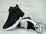 Мужские кроссовки Air Jordan 12 XII Retro x PSNY Friends and Family Playoffs Black/White 130690-004, фото 4