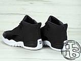 Мужские кроссовки Air Jordan 12 XII Retro x PSNY Friends and Family Playoffs Black/White 130690-004, фото 5