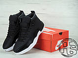 Мужские кроссовки Air Jordan 12 XII Retro x PSNY Friends and Family Playoffs Black/White 130690-004, фото 6
