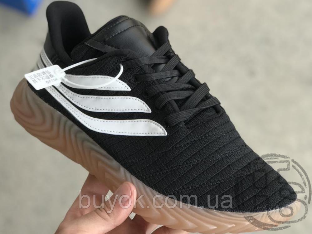 Мужские кроссовки Adidas Sobakov Black/White/Gum AQ1135