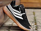Мужские кроссовки Adidas Sobakov Black/White/Gum AQ1135, фото 4
