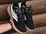 Мужские кроссовки Adidas Sobakov Black/White/Gum AQ1135, фото 5