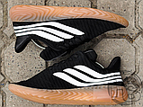 Мужские кроссовки Adidas Sobakov Black/White/Gum AQ1135, фото 7