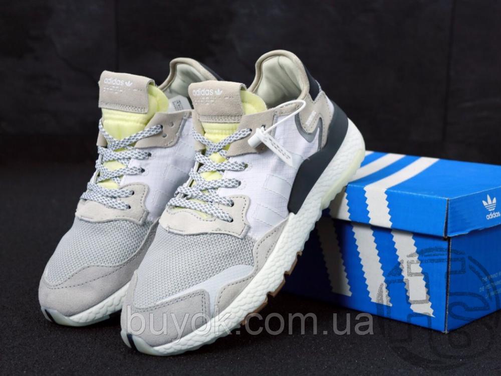 Мужские кроссовки Adidas Nite Jogger White Grey CG5950
