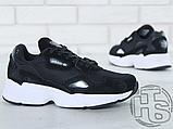 Женские кроссовки Adidas Falcon Black/White B28129, фото 2