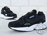 Женские кроссовки Adidas Falcon Black/White B28129, фото 3