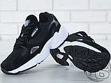Женские кроссовки Adidas Falcon Black/White B28129, фото 5