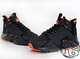 Мужские кроссовки Nike Air Huarache x ACRONYM City MID LEA Black/Orange 856787-107, фото 2