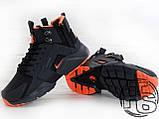 Мужские кроссовки Nike Air Huarache x ACRONYM City MID LEA Black/Orange 856787-107, фото 4