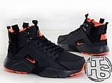 Мужские кроссовки Nike Air Huarache x ACRONYM City MID LEA Black/Orange 856787-107, фото 5