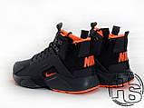 Мужские кроссовки Nike Air Huarache x ACRONYM City MID LEA Black/Orange 856787-107, фото 6