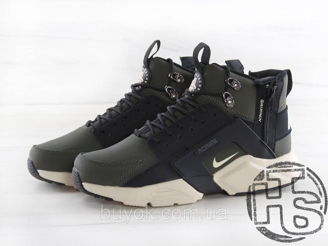Чоловічі кросівки Nike Air Huarache x ACRONYM MID City LEA Green/Black 856787-107