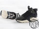 Чоловічі кросівки Nike Air Huarache x ACRONYM MID City LEA Green/Black 856787-107, фото 3
