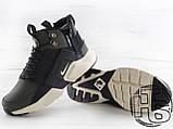 Чоловічі кросівки Nike Air Huarache x ACRONYM MID City LEA Green/Black 856787-107, фото 4
