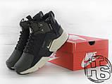 Чоловічі кросівки Nike Air Huarache x ACRONYM MID City LEA Green/Black 856787-107, фото 7