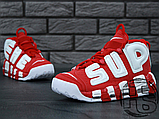 Чоловічі кросівки Nike Air More Uptempo x Supreme Suptempo Red 902290-600, фото 6
