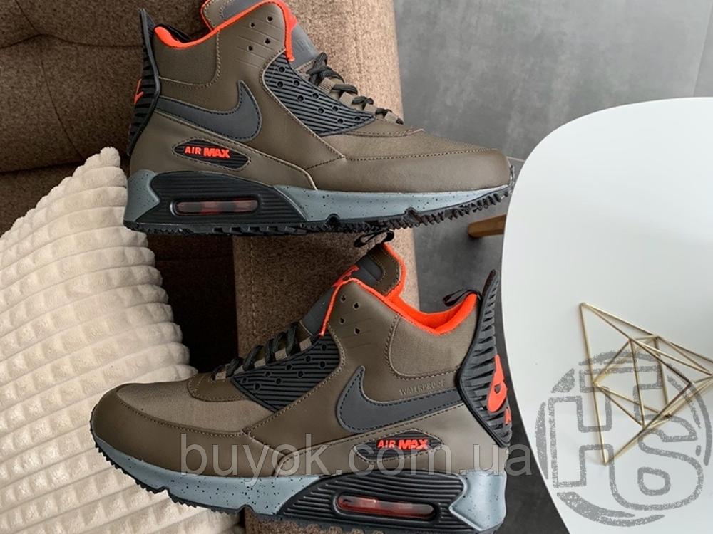 Чоловічі кросівки Nike Air Max 90 Sneakerboot Dark Loden/Black 684714-300
