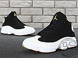 Чоловічі кросівки Air Jordan 13 Retro Black/White/Gum 439358-021, фото 3