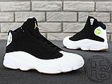 Чоловічі кросівки Air Jordan 13 Retro Black/White/Gum 439358-021, фото 4