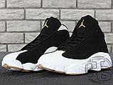 Чоловічі кросівки Air Jordan 13 Retro Black/White/Gum 439358-021, фото 9