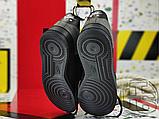 Чоловічі кросівки ACW x Nike Air Force 1 Black/Dark Grey-White BQ6924-001, фото 2