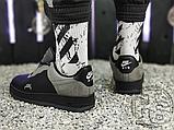 Чоловічі кросівки ACW x Nike Air Force 1 Black/Dark Grey-White BQ6924-001, фото 4