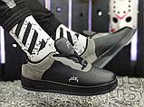 Чоловічі кросівки ACW x Nike Air Force 1 Black/Dark Grey-White BQ6924-001, фото 5