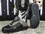Чоловічі кросівки ACW x Nike Air Force 1 Black/Dark Grey-White BQ6924-001, фото 7