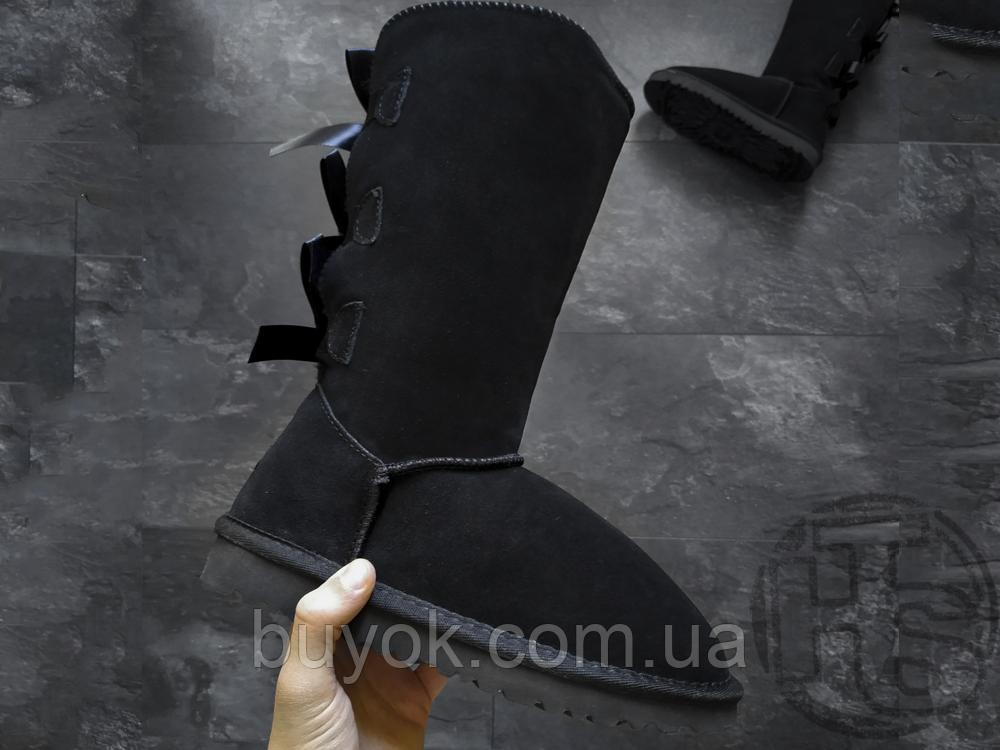 Женские сапоги UGG Bailey Bow Tall II Boot Black 1016434