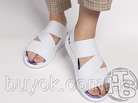 Женские сандалии Adidas Y-3 Qasa Sandals White Rainbow
