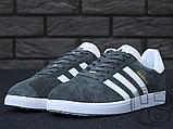 Чоловічі кросівки Adidas Gazelle Solid Grey White Gold BB5480, фото 8