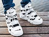 Мужские кроссовки Nike Air More Uptempo x Off-White White/Black 902290-105, фото 7