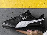 Мужские кроссовки Puma BMW MMS Roma Black White 306195-01, фото 4