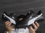 Мужские кроссовки Puma BMW MMS Roma Black White 306195-01, фото 7