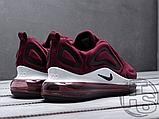 Чоловічі кросівки Nike Air Max 720 Wine Red/Black/White AR9293-600, фото 3